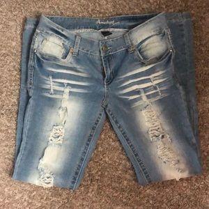 Amethyst light denim jeans